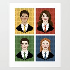 Teen Wolf Sortings Art Print by Vulcains