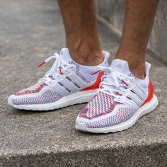 new product 98589 38ffc Adidas Ultra Boost Multicolor WhiteRed Adidas Sneakers, Adidas Men, Shoes  Sneakers,