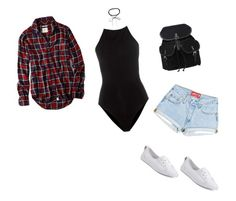 """""""body suit + converse"""" by candacewalt ❤ liked on Polyvore featuring T By Alexander Wang, Converse, Azalea and American Eagle Outfitters"""