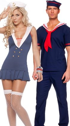 Navy Halloween costume couple - one of this years costume. Already have my sailor outfit!
