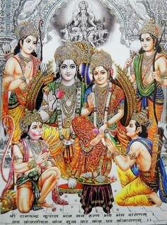 Ram Darbar Large Hindu Poster Glitter Effect  Glp146 In Collectibles Religion Spirituality Hinduism Ebay
