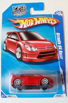 Hot Wheels Citroen C4 Rally 2010 by Mattel. $4.99. race online card 04/10. all stars. 122/240. This sale is for a Hot Wheels 2010 All Stars #122 Citroen C4 Rally.