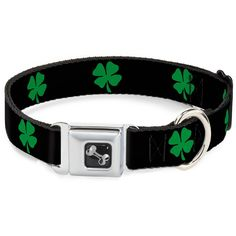 Buckle-Down 18-32' St. Pat's Black/Green Dog Collar Bone, Wide Large -- You can find out more details at the link of the image. (This is an affiliate link and I receive a commission for the sales)
