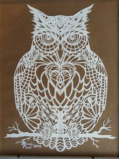 The Owl by GracePark.deviantart.com on @deviantART #Scherenschnitte