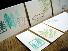 cute tree stamps