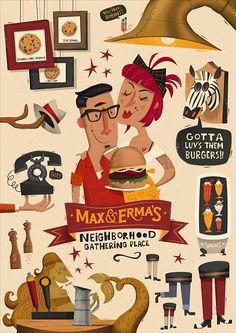 Max & Erma's Illustrated Menu Cover