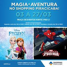 Shopping Piracicaba diverte crianças em evento inédito de Frozen e Homem-Aranha   Jornalwebdigital