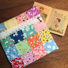 Exposed lace zipper pouch featuring Toy Chest fabric collection from Penny Rose fabrics #ilovepennyrose