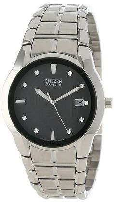 Citizen Eco-Drive Men's Grey Accented Watch. This Eco-Drive watch is powered by light, and features a 38mm stainless steel case and bracelet with grey accented dial. Features a 3-hand style with miner
