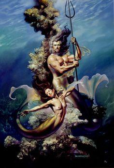 Mermaid Couple by Boris Vallejo