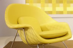 Yellow-Womb-Chair by Eero Saarinen