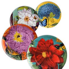 Look no further for brilliant dinnerware than Waechtersbach Impressions Accent Plates. Featuring bright floral designs, these porcelain dishes add dramatic flair to your table. Includes four designs: Peony, Dahlia, Clematis, and Hydrangea.