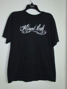 Miami-Ink-T-Shirt-Size-Large-Chris-Garver-Fish-Black