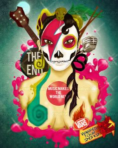 By Noha Vega for the contest to create an edgy design for the 2012 Vans Warped Tour