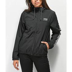 550862395093 Vans Kastle windbreaker jacket. Vans logo at the left chest ...