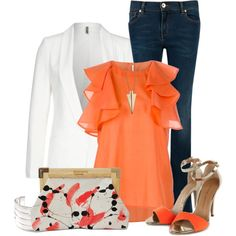 A fashion look from May 2013 featuring See by Chloé blouses, Naf Naf blazers and Ted Baker jeans. Browse and shop related looks.