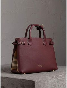 Burberry The Medium Banner in Leather and House Check Burberry, Medium,  Purses, Closet 94b75dfbe2