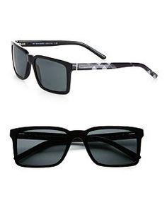 Burberry - Rectangular Check Sunglasses $190.00