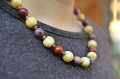 Mookaite and Owyhee Jasper, Necklace and Bracelet, Natural Stones Necklace, Gemstone Jewelry Christmas Gifts For Mom, Christmas Ideas, Gemstone Jewelry, Unique Jewelry, Beaded Necklaces, Stone Necklace, Natural Stones, Jasper, Best Gifts