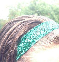 One Up Sparkly Green Non Slip Headband
