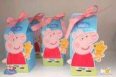 peppa pig favor box - Buscar con Google Fiestas Peppa Pig, Cumple Peppa Pig, Pig Birthday, 4th Birthday Parties, Birthday Ideas, Pig Party, George Pig, Lunch Box, Party Ideas