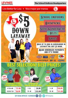 We are your One Stop Shop! All of your back to school shopping needs are here!