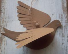 Papel de las aves--Molly pájaro--cinco pájaros Natural