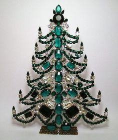 GIANT CZECH CHRISTMAS TREE - RHINESTONE DECORATION for your table or window | eBay