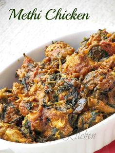 Methi Chicken Masala / Murgh Methi Masala