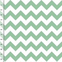 Hemlock Green Chevron Cotton Jersey Blend Knit Fabric