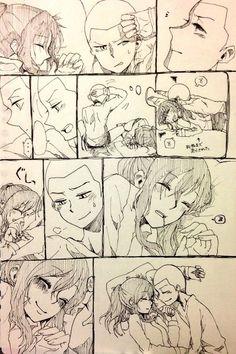 Shingeki no Kyojin SASHA x CONNIE!!!!!!!!!!!! they are so cute together.