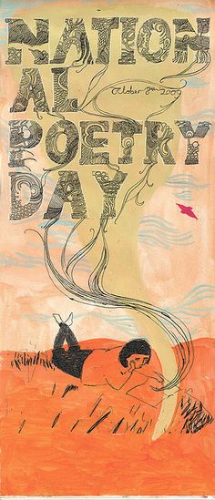 """""""National Poetry Day 2009"""" poster by Melissa Castrillon, via Flickr"""