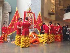 La danse du Lion au musée national des arts asiatiques - Musée Guimet / Célébrations du Nouvel an 2015 / Annèe de la Chèvre de Bois