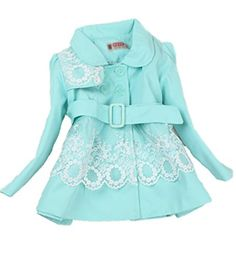 Baby Girls Princess Flower Long Jacket Outwear Trench Coat Autumn Winter Clothes 1256years blue >>> BEST VALUE BUY on Amazon-affiliate link