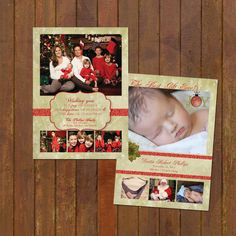 Christmas Baby Announcement and Christmas Card by gwenmariedesigns, $24.00