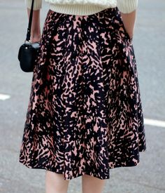 Whistles ivy smudge print skirt