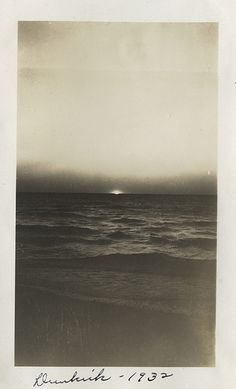 """black & white beaches as the sun slips, beautiful in 1932 