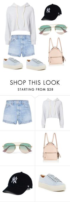 """""""Board"""" by morgan09wilson ❤ liked on Polyvore featuring GRLFRND, Monrow, Gucci, Fendi and Marc Fisher LTD"""