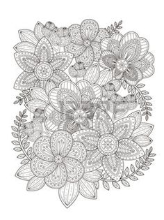 Coloring Pages Print Elegant Flower Page Design In Exquisite Line
