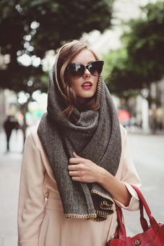 Another way to wear a scarf? Wrap it around your head for extra chicness.