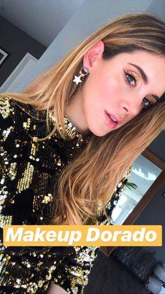 Maquillaje dorado Gold makeup Eye Makeup Steps, Makeup Tips, Beauty Makeup, Hair Beauty, Makeup Step By Step, Gold Makeup, Natural Make Up, Skin Firming, Perfect Skin