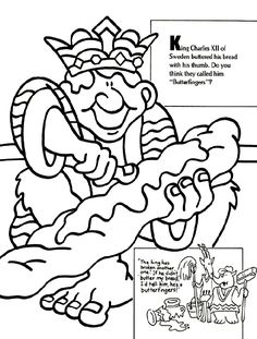 king charles xii coloring page