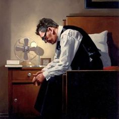 The Weight from Jack Vettriano available now from Evergreen Art Cafe