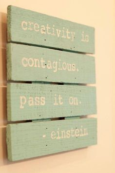 Pass on the creativity!