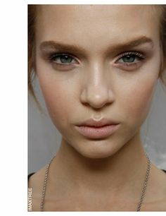 Perfect highlights - inner eye (a rosy hue), bridge of the nose and cupids bow.