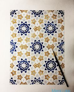 Art inspired by Islamic designs, made by Margi Lake (@margi_lake) -- check out her stuff; they're nice!