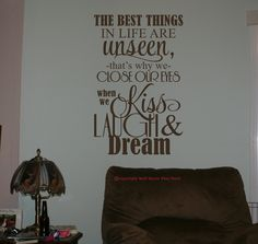 The Best Things In Life Are Unseen Thats Why We Close Our Eyes - Cool custom vinyl decals for carsdecalfxcom thebest wall decals for your home custom vinyl