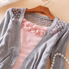Cute cardi!!    Women's Cotton+Voile Knitwear With Solid Color Long Sleeves Openwork Design (WHITE) China Wholesale - Sammydress.com