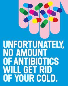 Colorful pills - antibiotics poster