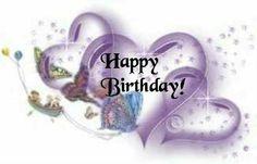 Purple Hearts Happy Birthday!